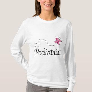 Cute Pink Butterfly Podiatrist T-Shirt