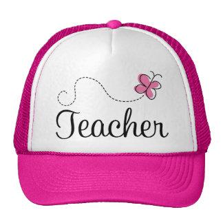 Cute Pink Butterfly Teacher Trucker Hats