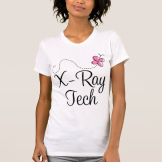 Cute Pink Butterfly X-ray tech T-Shirt