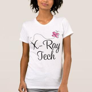 Cute Pink Butterfly X-ray tech Tee Shirts