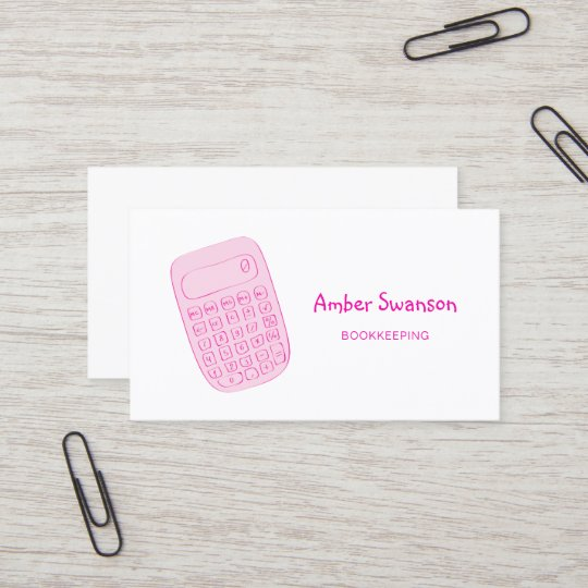 Cute pink calculator for accountant and bookkeeper business card cute pink calculator for accountant and bookkeeper business card colourmoves