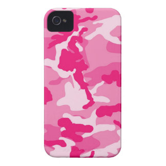 Cute Pink Camouflage Pattern iPhone 4 Cases