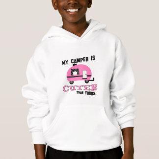Cute Pink Camper Kids Sweatshirt