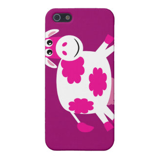 Cute Pink Cartoon Cow Cover For iPhone 5