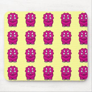 Cute Pink Cartoon Dinosaur Mouse Pad