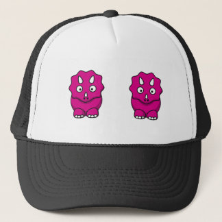 Cute Pink Cartoon Dinosaur Trucker Hat