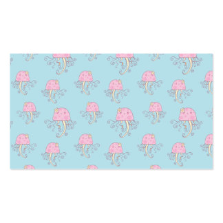 Cute Pink Cartoon Jellyfish Pattern Double-Sided Standard Business Cards (Pack Of 100)