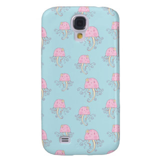 Cute Pink Cartoon Jellyfish Pattern Samsung Galaxy S4 Covers
