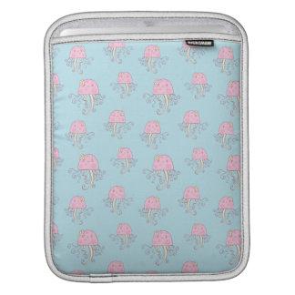 Cute Pink Cartoon Jellyfish Pattern iPad Sleeves