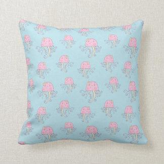 Cute Pink Cartoon Jellyfish Pattern Pillows
