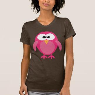 Cute Pink Cartoon Owl T-Shirt