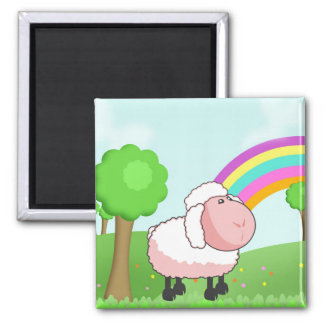 Cute Pink Cartoon Sheep Magnet