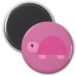 Cute pink cartoon tortoise magnet