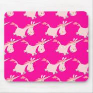 Cute Pink Cartoon Unicorn Herd!! mousepad