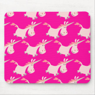 Cute Pink Cartoon Unicorn Herd!! mousepad