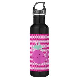 Cute Pink Cartoon Whale 24oz Water Bottle
