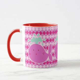 Cute Pink Cartoon Whale Mug