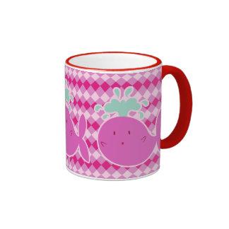 Cute Pink Cartoon Whale Coffee Mug