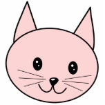 Cute Pink Cat Acrylic Cut Outs