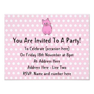 Cute Pink Cat. Card