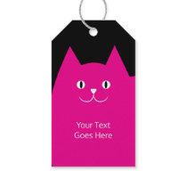 Cute Pink Cat Fun Design Gift Tags