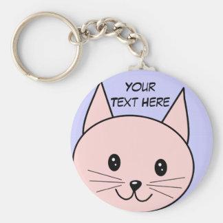 Cute Pink Cat Keychain