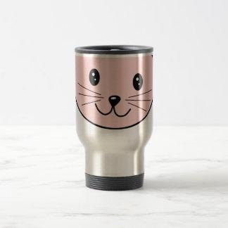 Cute Pink Cat 15 Oz Stainless Steel Travel Mug