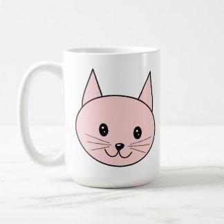 Cute Pink Cat Coffee Mugs