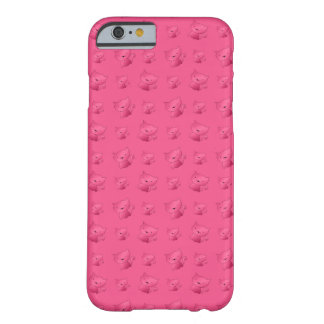 Cute pink cat pattern barely there iPhone 6 case