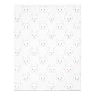 Cute Pink Cat Pattern Flyer