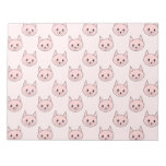 Cute Pink Cat Pattern Memo Note Pad