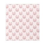 Cute Pink Cat Pattern Memo Note Pads