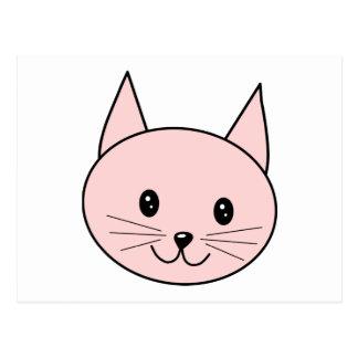 Cute Pink Cat Postcard
