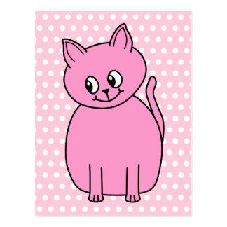 Cute Pink Cat. Postcard