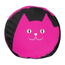 Cute Pink Cat Pouf