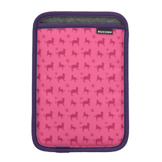 Cute pink cats and paws pattern iPad mini sleeves