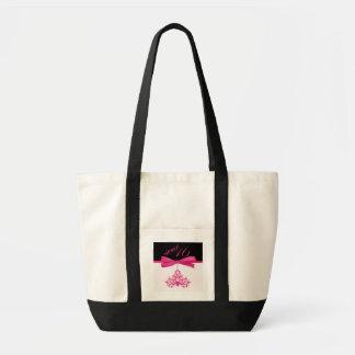 Cute Pink Chandelier & Ribbon Print Sweet Sixteen Impulse Tote Bag