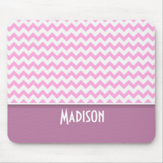 Cute Pink Chevron Mouse Pad