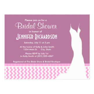 Cute Pink Chevron Postcard