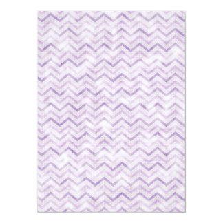 Cute Pink Chevron Zigzag Glow 5.5x7.5 Paper Invitation Card