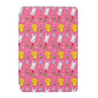 Cute pink chick bunny egg basket easter pattern iPad mini cover