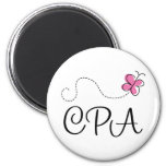 Cute Pink CPA 2 Inch Round Magnet