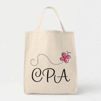 Cute Pink CPA Grocery Tote Bag