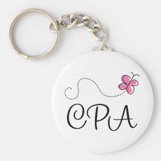 Cute Pink CPA Keychain