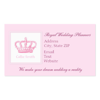 Cute Pink Crown Business Card