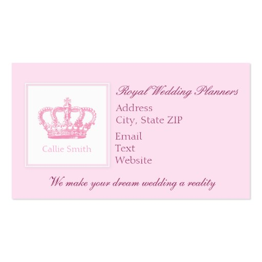 Cute pink crown business card zazzle for Crown business cards