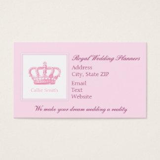 Cute Pink Crown Business Card