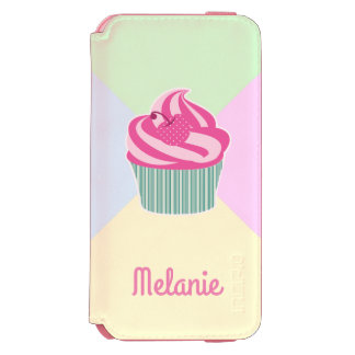 Cute Pink Cupcake and Pastel Colors iPhone 6/6s Wallet Case