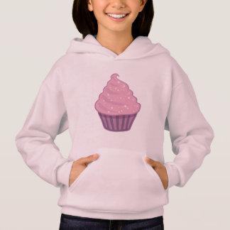 Cute Pink Cupcake Big Swirl Icing With Sprinkles Hoodie