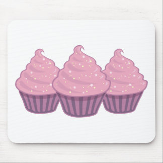 Cute Pink Cupcake Big Swirl Icing With Sprinkles Mouse Pad